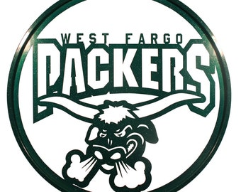 Hand Made West Fargo Packers Scenic Art Wall Design *NEW*