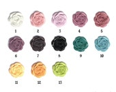 13 Color Choices Matte...Perfect Rose Flower Acrylic Resin set of 4...top quality perfect size....great style...21mm