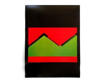 "John McCracken ""Manchu"" poster, c.1970. Graphic design education by Reinhold Visuals"