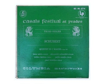 "Ronald Clyne record album design, c.1960. ""Casal Festival at Prades, Third Series (Schubert)"" LP"