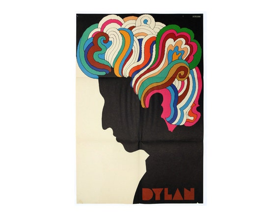 Milton Glaser Dylan poster 1966. Original issue.