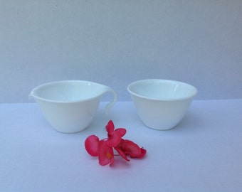 Vintage Corelle Cream and Sugar Set - Corning Ware - White Dishes