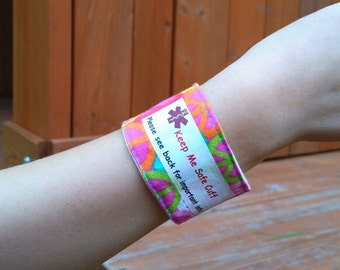 Kid's Medical Alert Bracelet Safety ID Wristband with Customized Label - Peace