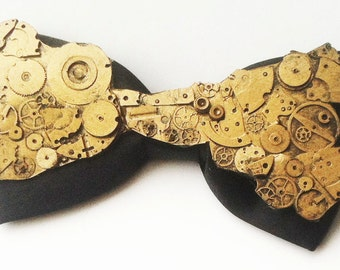steampunk clockwork bow tie