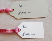 To/From (Add Your Written Details) Tag Olive Wood Stamp