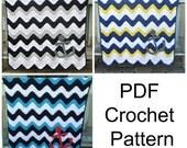 PATTERN Anchor Baby Blanket Crochet Pattern PDF