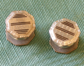 Vintage Engine-Turned Yo-Yo Cuff links