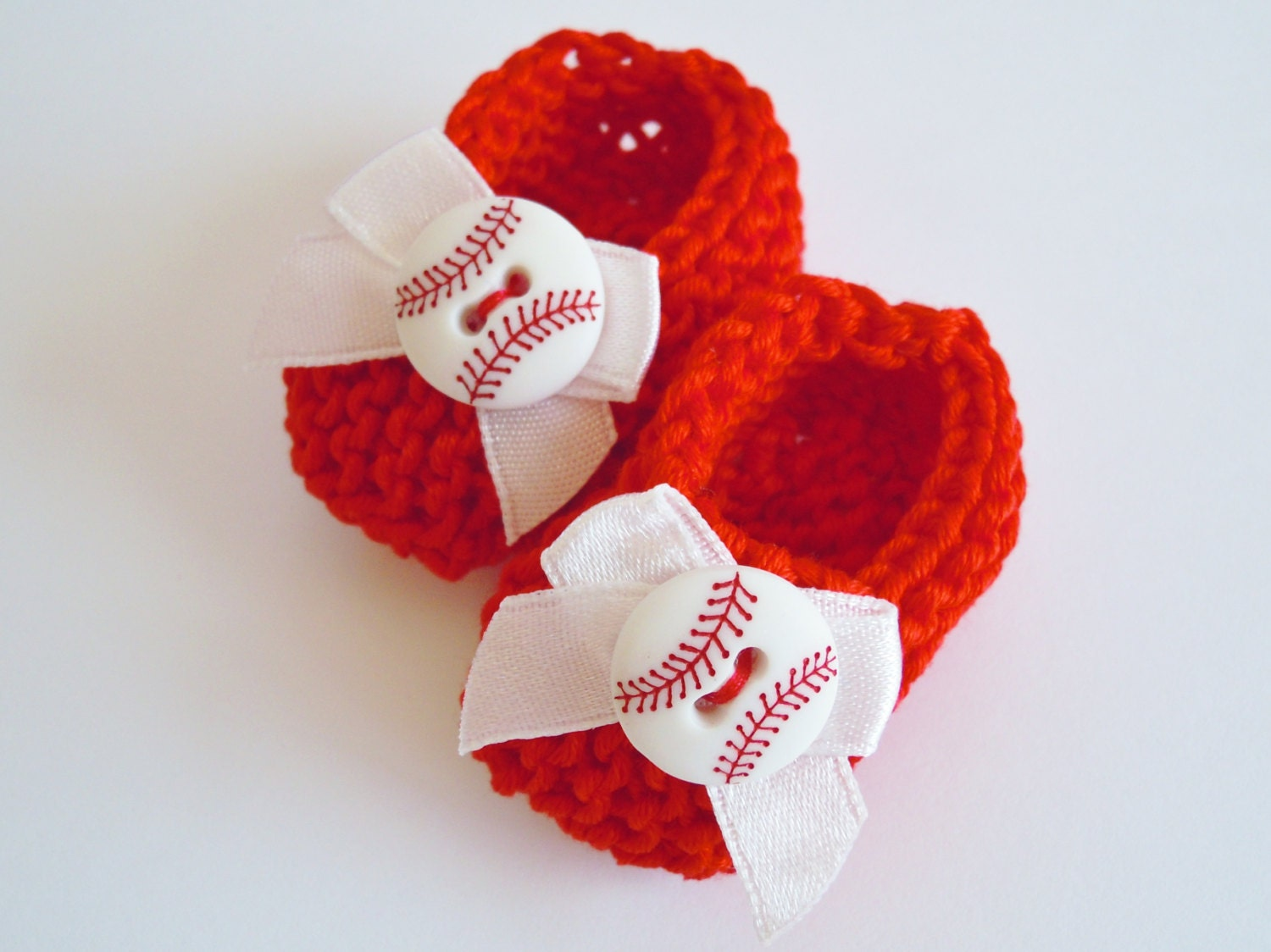 baseball baby shower decorations little hand knit red white