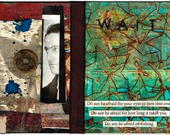 W A I T - Collage Art Print