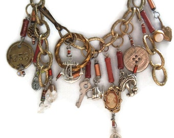 Resistor Steampunk necklace cyberpunk geekery in brown town