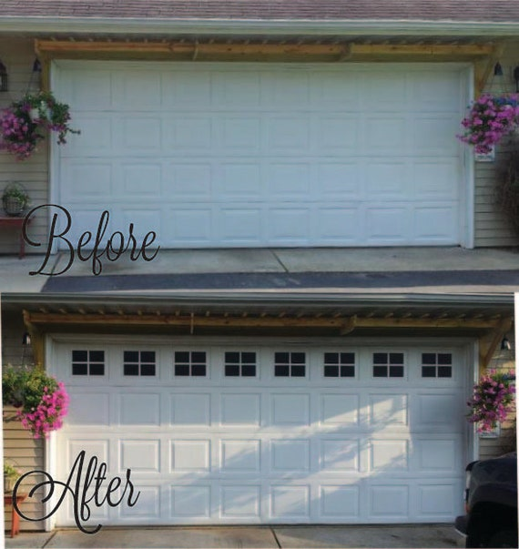 Garage Door Vinyl Window Decals: Garage Door Windows Decals Garage Faux Window Decals