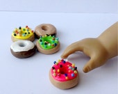 "American Girl doll food set of 5 donuts - 18"" doll food"