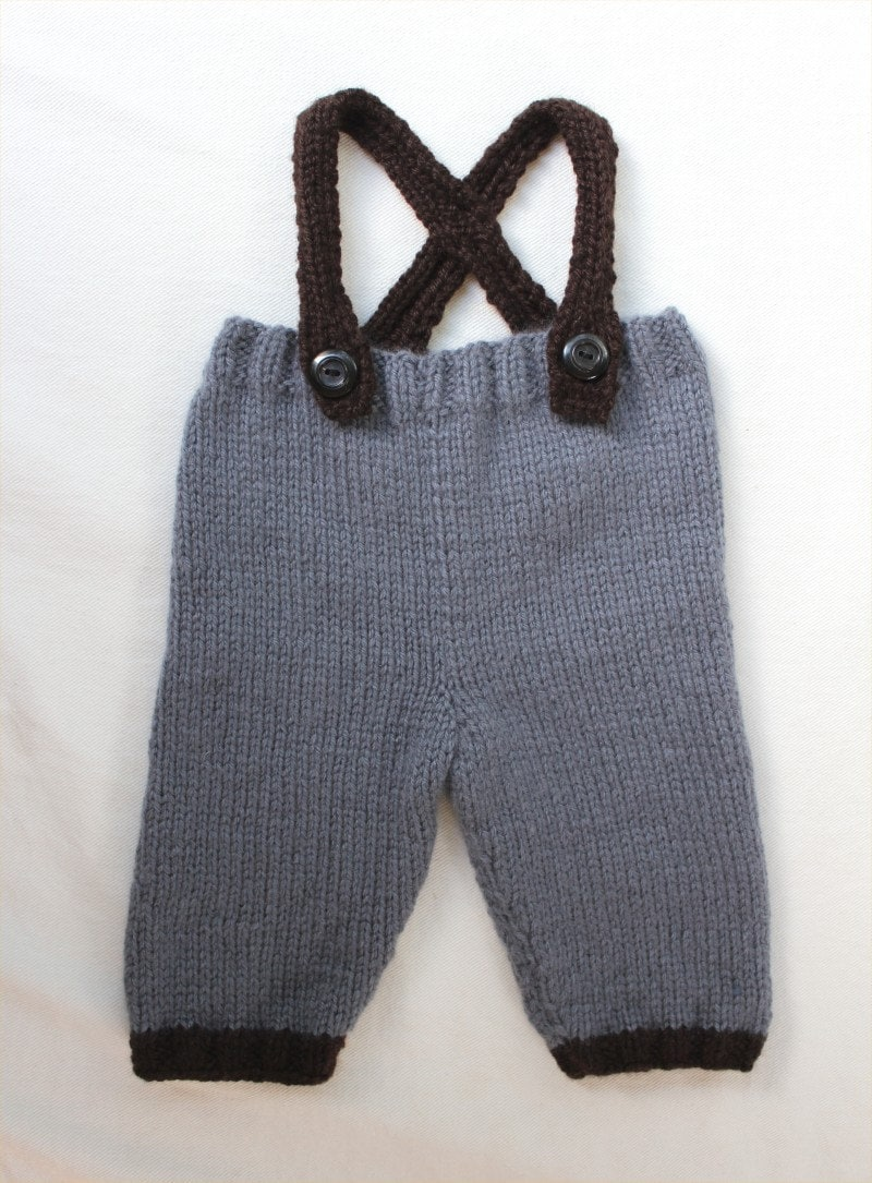 Knitting Pattern For Toddler Overalls : KNITTING PATTERN Baby Overalls ages 3-12 months PDF
