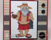 Hippie, beach bum, tourist - BLANK -  OOAK card