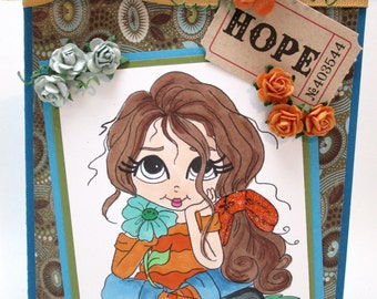 HOPE - thinking of you - OOAK
