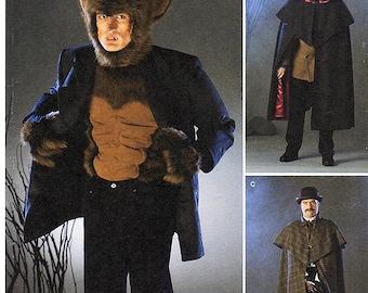 Sz L/XL  - Simplicity 2513 - Men's Costume Pattern - Wolfman, Sherlock Holmes, Jekyll & Hyde Cloak/Cape