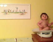 "William: Giclee Print of an Original Painting 27"" x 10.5""  Nursery Art.    Request a different NaMe or SiZe."