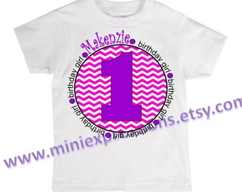 Personalized birthday Cheveron shirt