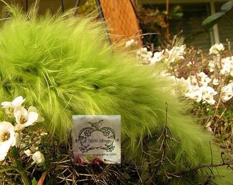 Dark Lime Green Small Short Haired Marabou Boa Feathers