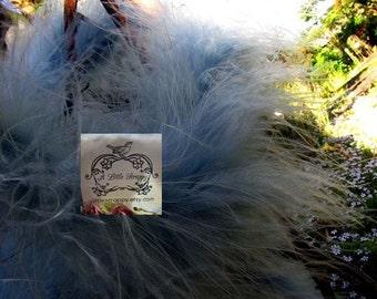 Stormy Sky Blue Marabou Boa Feathers