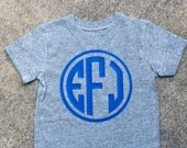 Circle Monogram Vinyl Pressed Tshirt
