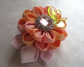 Sunrise Kanzashi Flower Hair Clip