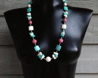 80s Vintage Navajo Southwestern Style Necklace