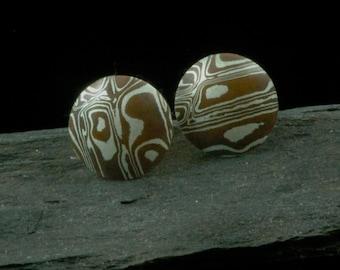 Chinook pattern Mokume Gane Cufflinks