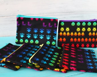 Coin Purse Aliens with Canvas lining