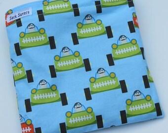 Reusable Eco Friendly Sandwich or Snack Bag Les Monsieurs Racecar