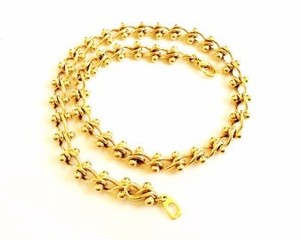 Gold chunky chain necklace beautiful gold tone vintage jewelry