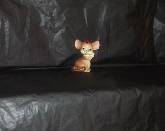 Vintage Japan LEFTON Mouse Figurine with Ladybug ADORABLE