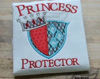 Princess Protector applique embroidrey design