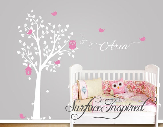 kinderzimmer wandtattoo eule baum wandtattoo v gel mit. Black Bedroom Furniture Sets. Home Design Ideas
