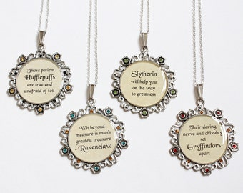 Wizarding House Motto Necklace