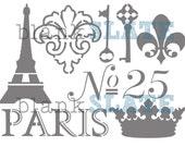 Vive la France Stencil - 11x8
