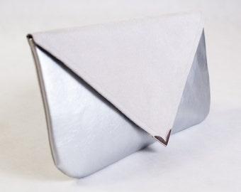 Silver envelope XL purse