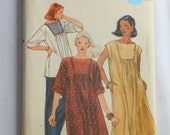 Vintage Vogue Sewing Pattern 7913, for Loose Fitting Maternity Dress or Tunic With Inset Yoke