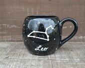 Zodiac Constellation Mug - Pick Your Astrological Sign - 24 oz. - Hand Painted Multi Colored Coffee or Tea Mug