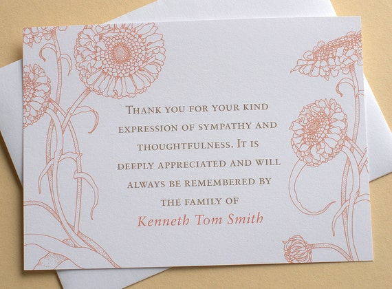thank you sympathy cards with lovely flowers by zdesigns0107