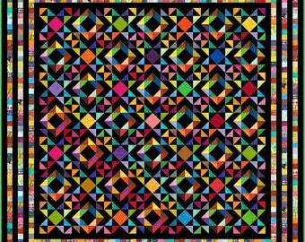 """ALEJANDRO - 113"""" x 113"""" Large King or 101"""" x 101"""" King - Quilt-Addicts Pre-cut Patchwork Quilt Kit or Finished Quilt"""