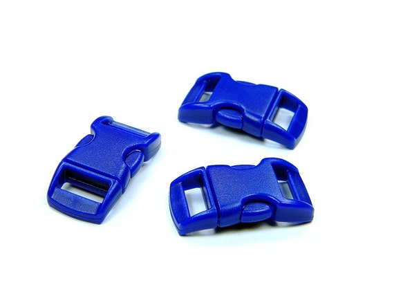 "50 - Blue 3/8"" Curved Side Release Buckles (Brand New)"