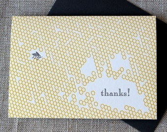 Letterpressed 'Thank You' Card