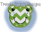 Froggy Boy Applique Design Machine Embroidery Design INSTANT DOWNLOAD