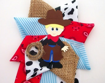 Cowboy Baby Shower Corsage - Ready To Ship
