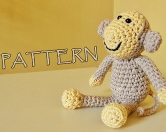 Crochet pattern amigurumi animal monkey PDF US English