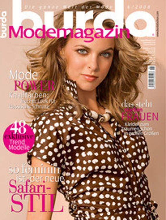 Burda sewing magazine June 2008. In English