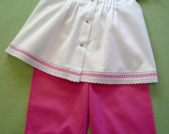 Lacey Capri Set - Hot Pink Combination