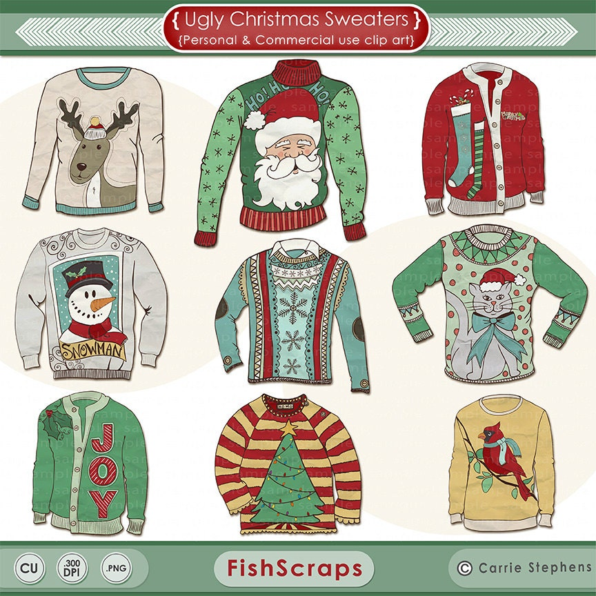Like this item Ugly Christmas Sweaters Clipart