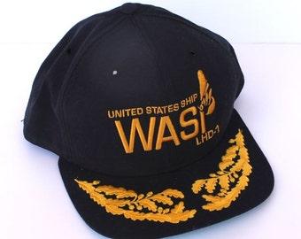 Vintage New Era Embroidered Bill Snapback Hat